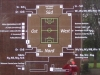 Plan of ground layout, plus reflection of yours truly!