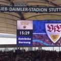 The scoreboard at the Gottlieb Daimler Stadion, Stuttgart